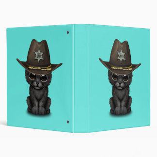 Cute Baby Black Panther Cub Sheriff Binders