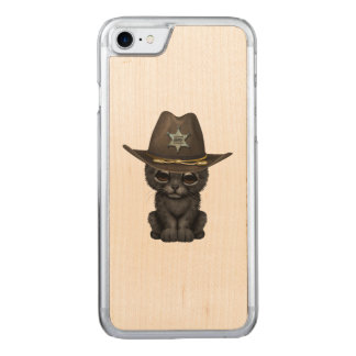 Cute Baby Black Panther Cub Sheriff Carved iPhone 8/7 Case