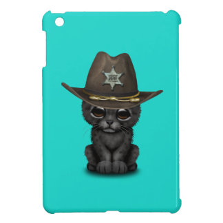 Cute Baby Black Panther Cub Sheriff Case For The iPad Mini