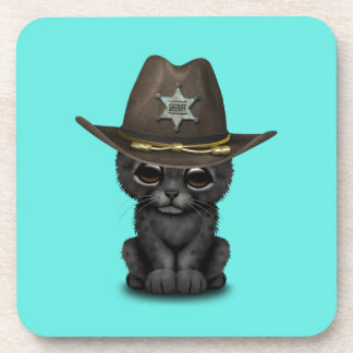 Cute Baby Black Panther Cub Sheriff Coaster