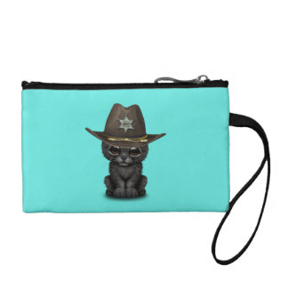Cute Baby Black Panther Cub Sheriff Coin Purse