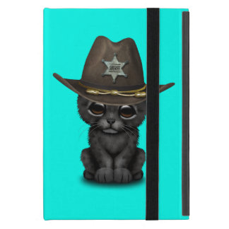 Cute Baby Black Panther Cub Sheriff iPad Mini Cases