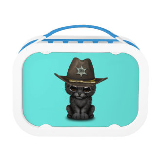 Cute Baby Black Panther Cub Sheriff Lunch Boxes