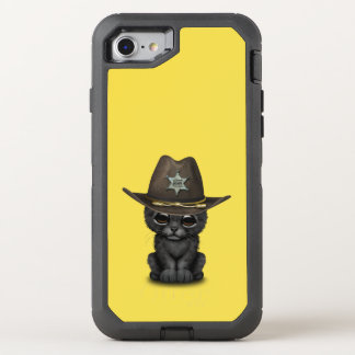 Cute Baby Black Panther Cub Sheriff OtterBox Defender iPhone 8/7 Case