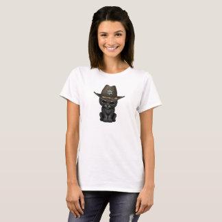 Cute Baby Black Panther Cub Sheriff T-Shirt