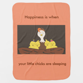 Cute Baby Blanket / Audrey tucks her chicks in
