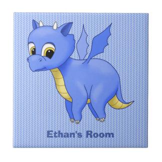 Cute Baby Blue Dragon Tile