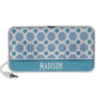 Cute Baby Blue Polka Dots Notebook Speakers