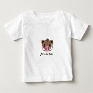 Cute baby bodysuit Chinese zodiac - 2007 boar