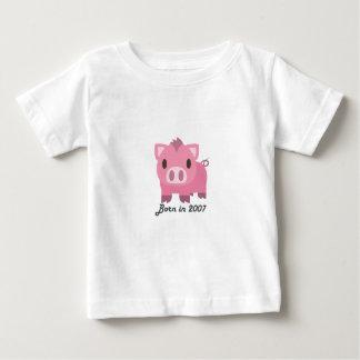 Cute baby bodysuit Chinese zodiac - 2007 boar pink
