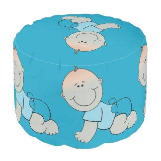 Cute Baby Boy Design Round Pouf