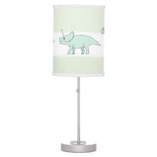 Cute Baby Boy Doodle Dinosaur Nursery Table Lamp