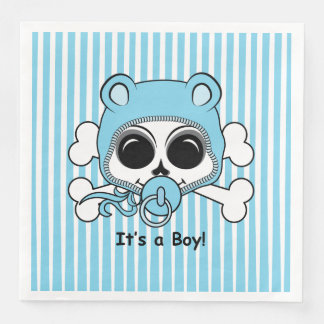 Cute Baby Boy Skull Disposable Napkins