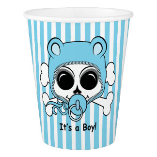 Cute Baby Boy Skull Paper Cup
