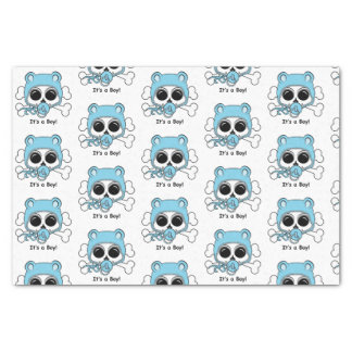 Cute Baby Boy Skull Tissue Paper