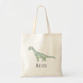 Cute Baby Boy Spotty Dinosaur Name Diaper Tote Bag