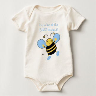 Cute Baby Boys Clothing With Bee Baby Bodysuit