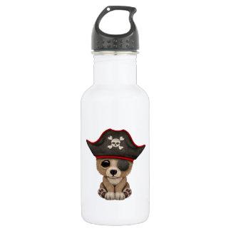 Cute Baby Brown Bear Cub Pirate 532 Ml Water Bottle
