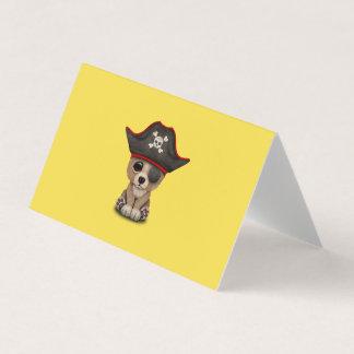 Cute Baby Brown Bear Cub Pirate Card