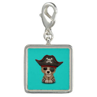 Cute Baby Brown Bear Cub Pirate Charm