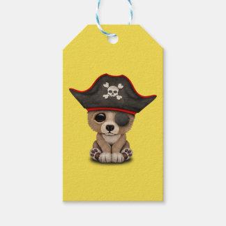 Cute Baby Brown Bear Cub Pirate Gift Tags