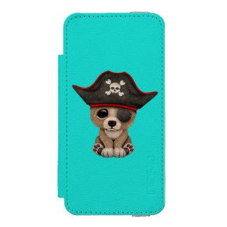 Cute Baby Brown Bear Cub Pirate Incipio Watson™ iPhone 5 Wallet Case