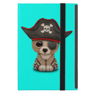 Cute Baby Brown Bear Cub Pirate iPad Mini Cover