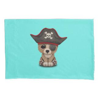 Cute Baby Brown Bear Cub Pirate Pillowcase