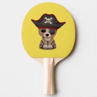 Cute Baby Brown Bear Cub Pirate Ping Pong Paddle