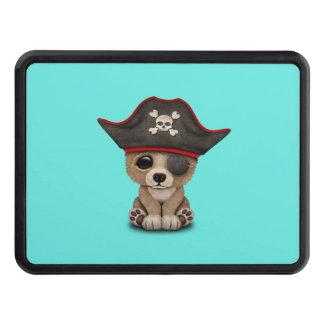 Cute Baby Brown Bear Cub Pirate Trailer Hitch Cover