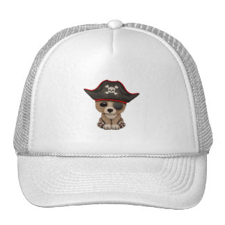 Cute Baby Brown Bear Cub Pirate Trucker Hat