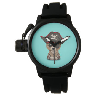 Cute Baby Brown Bear Cub Pirate Watch