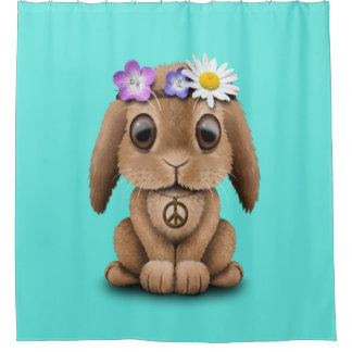 Cute Baby Bunny Hippie