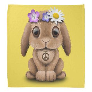 Cute Baby Bunny Hippie Bandana