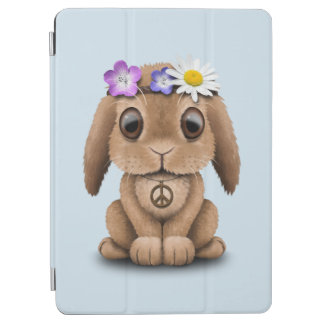 Cute Baby Bunny Hippie iPad Air Cover