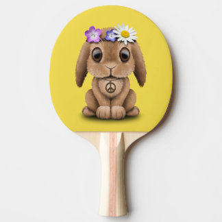 Cute Baby Bunny Hippie Ping Pong Paddle