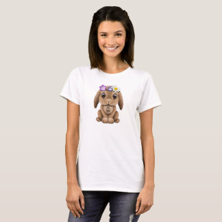 Cute Baby Bunny Hippie T-Shirt