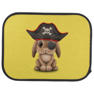 Cute Baby Bunny Pirate Car Mat