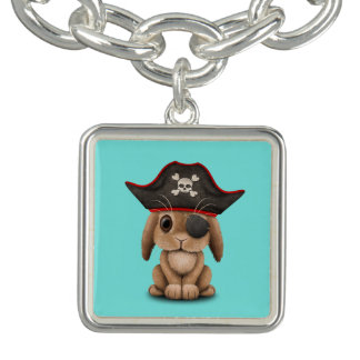 Cute Baby Bunny Pirate Charm Bracelets