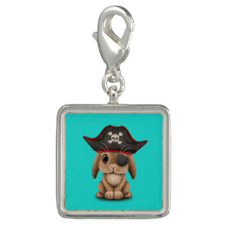 Cute Baby Bunny Pirate Charms