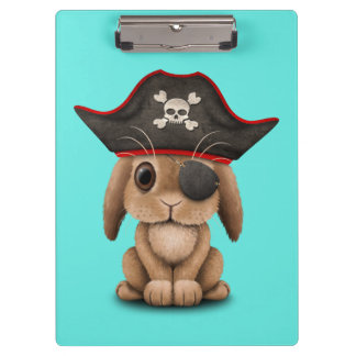 Cute Baby Bunny Pirate Clipboard