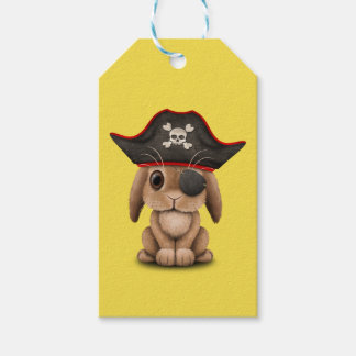 Cute Baby Bunny Pirate Gift Tags