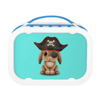 Cute Baby Bunny Pirate Lunch Box