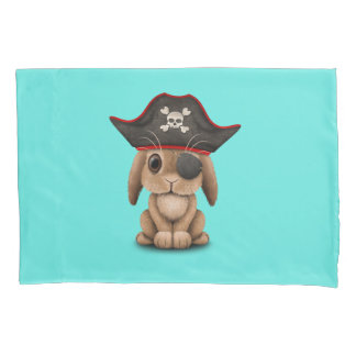 Cute Baby Bunny Pirate Pillowcase