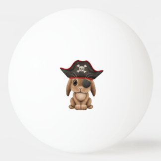 Cute Baby Bunny Pirate Ping Pong Ball
