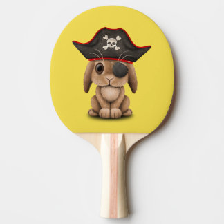 Cute Baby Bunny Pirate Ping Pong Paddle
