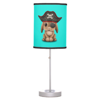 Cute Baby Bunny Pirate Table Lamp