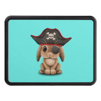 Cute Baby Bunny Pirate Trailer Hitch Cover