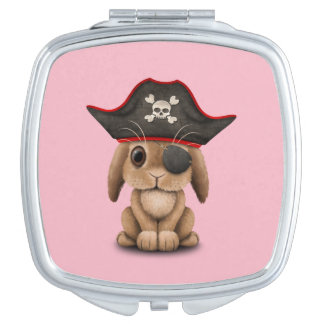 Cute Baby Bunny Pirate Travel Mirrors