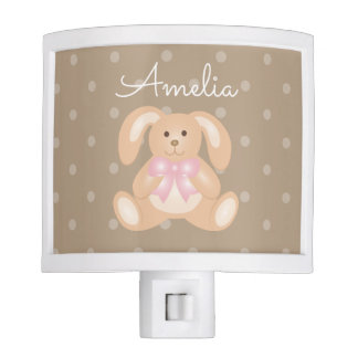 Cute Baby Bunny Rabbit Sweet Girls Nursery Night Lites